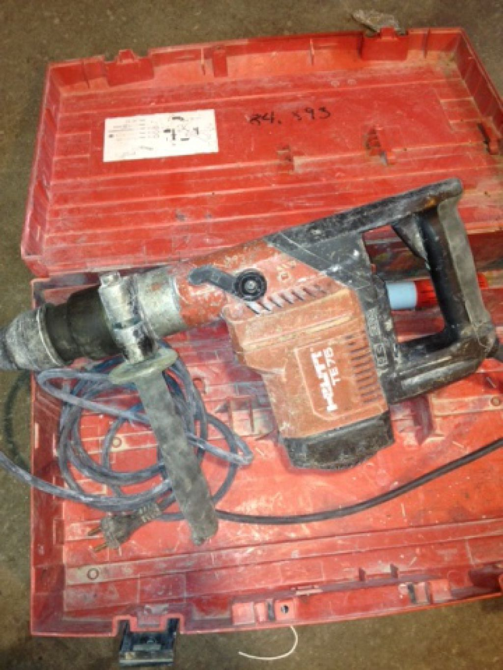 hilti te75 for sale retrade offers used machines vehicles equipment and surplus material. Black Bedroom Furniture Sets. Home Design Ideas