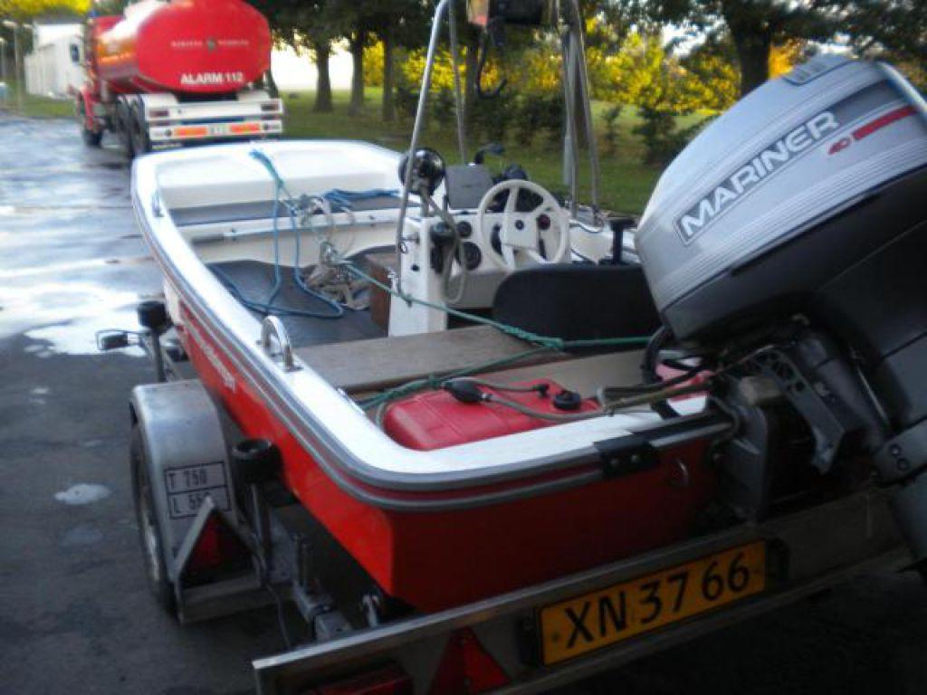 Fin Jolle/båd, type DORY 13, med 40 HK Mariner påhængsmotor for sale RO-35