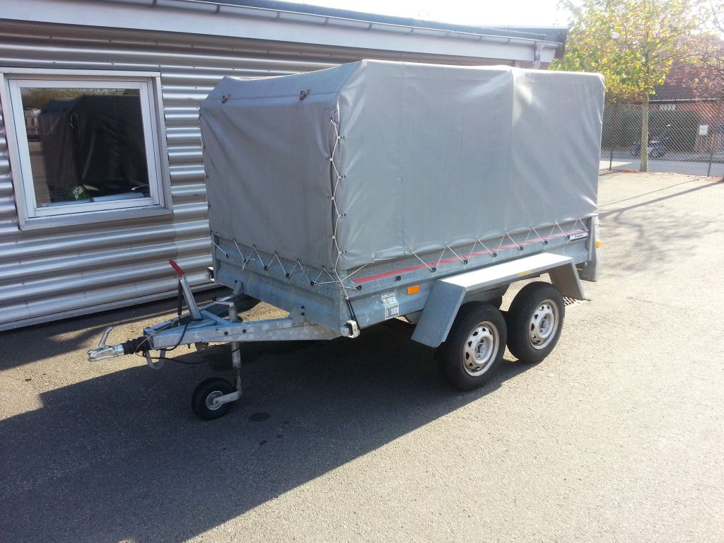 Dobbeltakslet Brenderup trailer med ruf for sale. Retrade offers used machines, vehicles ...