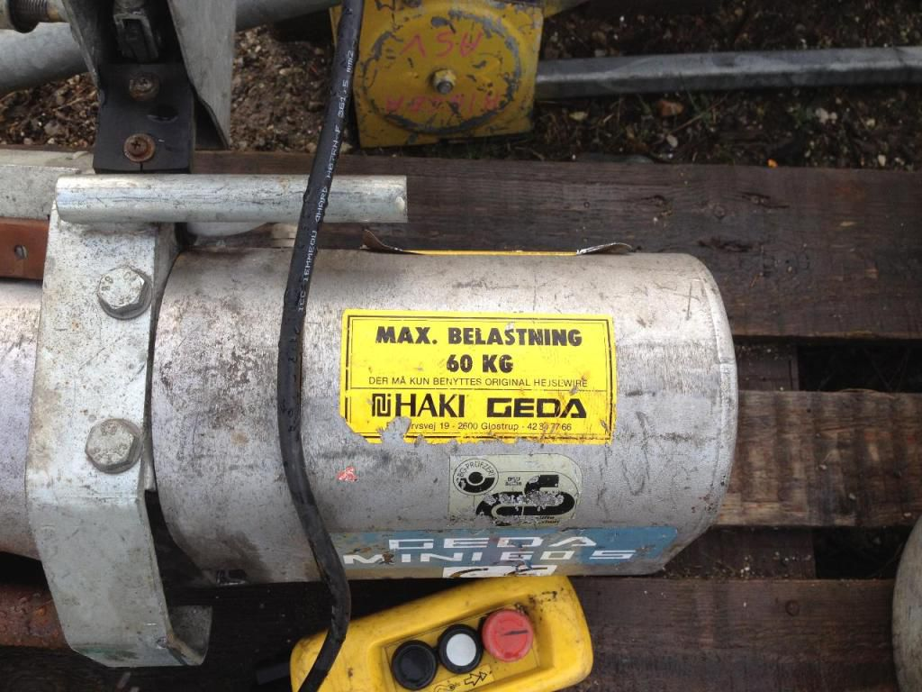 Geda Mini 60s Stilladshejs / Geda Mini 60s Scaffold hoist