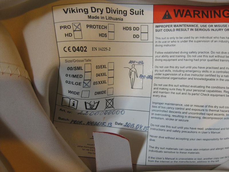 7 stk. Dykkerdrakt/ Diving suit Viking, nye/new - 5
