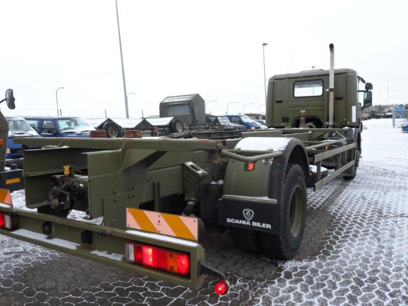 Scania 94 D lastvogn til container transport / Army truck - 5