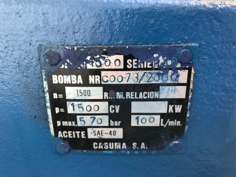 High-pressure water jet machines WOMA1502 - 11