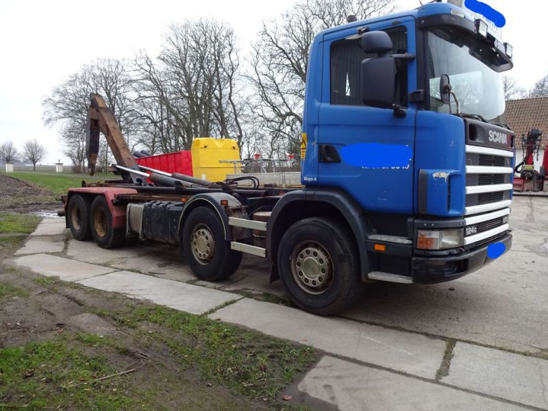 Scania 124G med kroghejs / Scania truck with hook hoist - 3