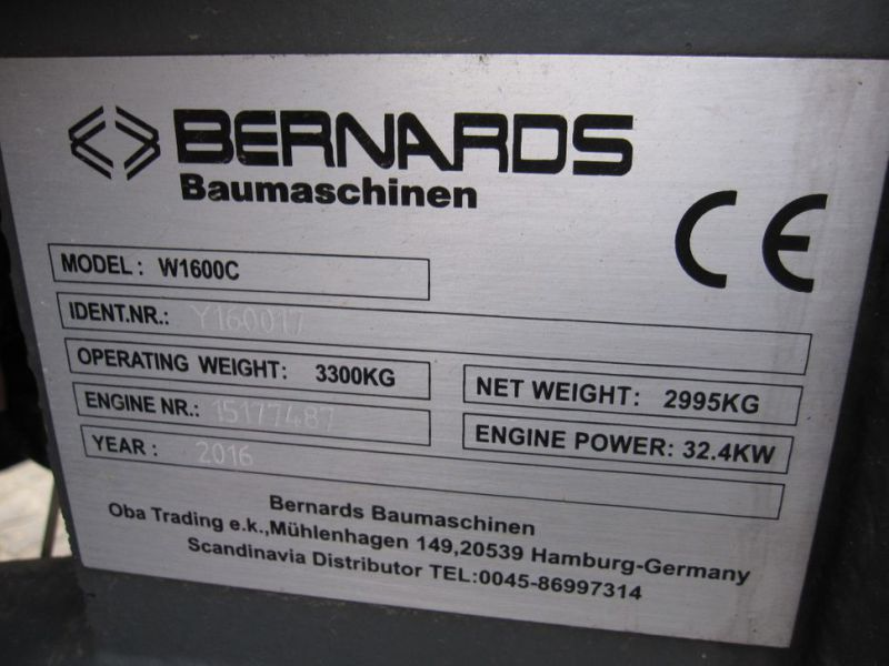 Bernards W1600C Minilæsser / Wheel Loader - 17