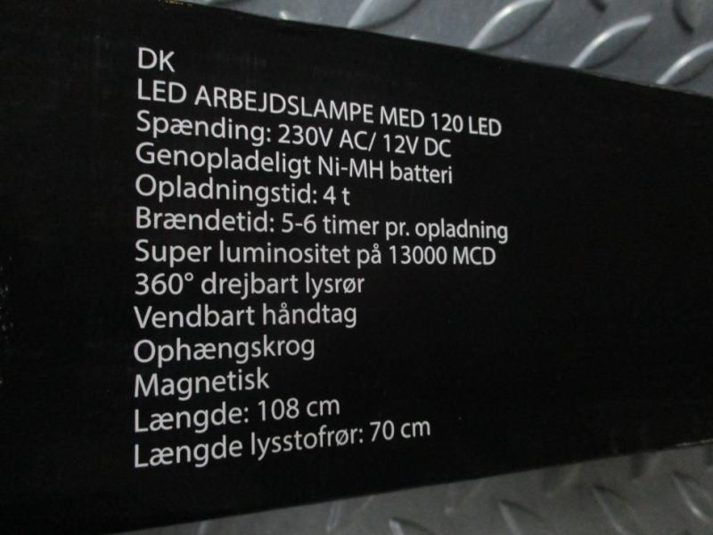 10 X LED arbejdslygter 120 LED (NYE) / LED Working light - 10