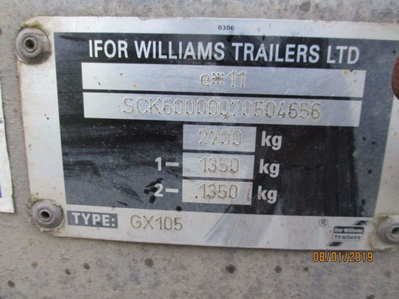 Trailer Williams 2700 kg  - 22