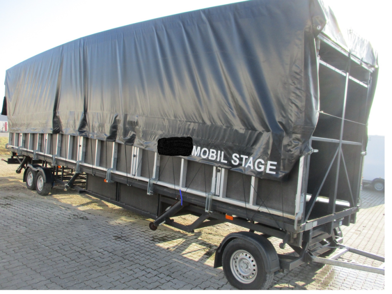 Mobil scene 10 m  fuld udstyret / Mobile scene 10 m full equipment. - 3