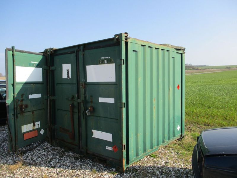 8 fods container med dieseltank / 8 ft. container with fuel tank - 0