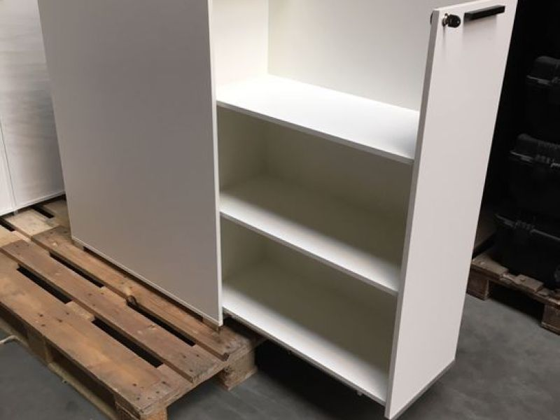 9 stk. Reol med udtræksskuffe/hylde / 9 pcs. Shelf with pull-out drawer / shelf - 0