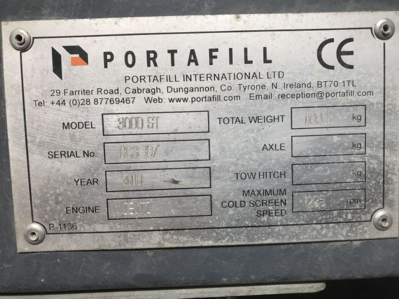 Portafill 3000 ST sorterverk / Portable screeing plant wash - 27