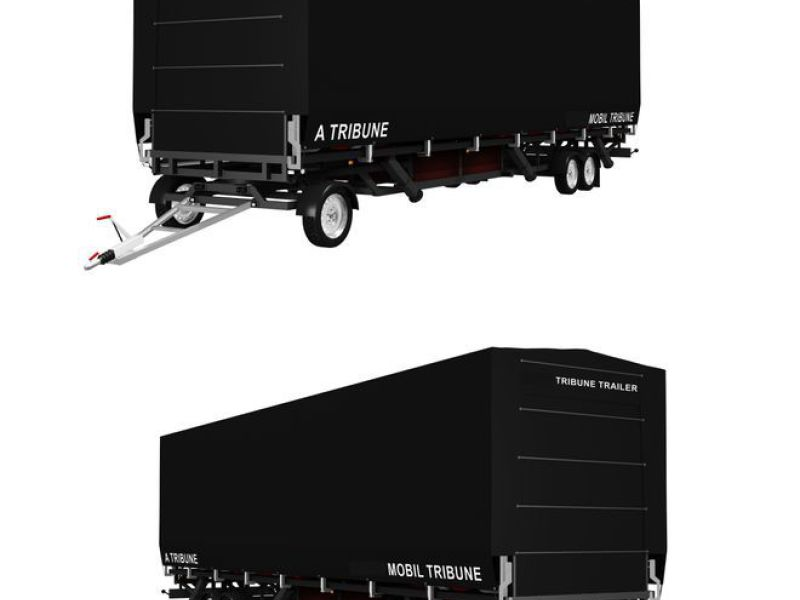 MOBILTRIBUNETAILER MED 130 SÆDER. / MOBILE STAND TRAILER WITH 130 SEATS - 1