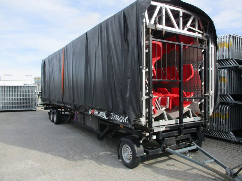 MOBILTRIBUNETAILER MED 130 SÆDER. / MOBILE STAND TRAILER WITH 130 SEATS - 36