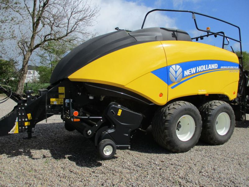New Holland BB 890 Plus Bigballe Presser med Parklandvogn / Baler with trailer - 6