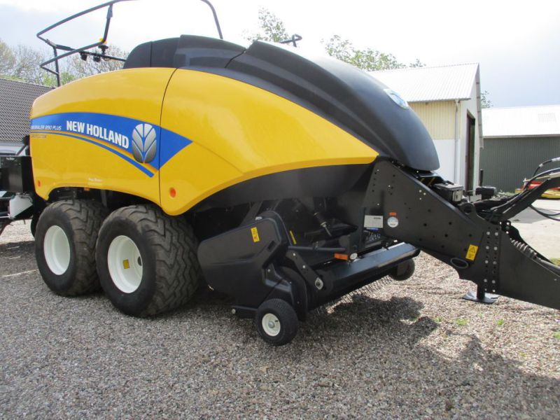 New Holland BB 890 Plus Bigballe Presser med Parklandvogn / Baler with trailer - 7