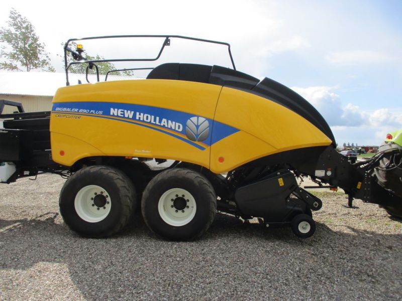 New Holland BB 890 Plus Bigballe Presser med Parklandvogn / Baler with trailer - 8