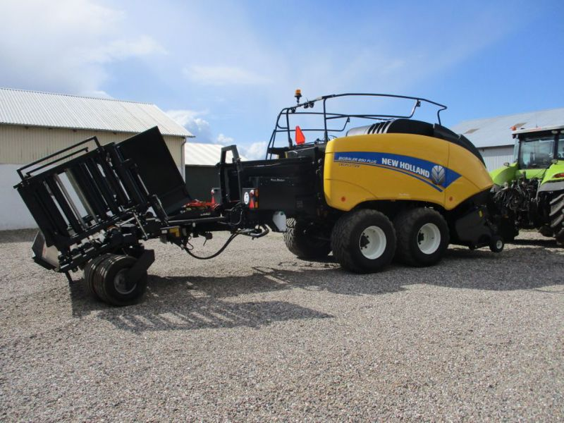 New Holland BB 890 Plus Bigballe Presser med Parklandvogn / Baler with trailer - 10