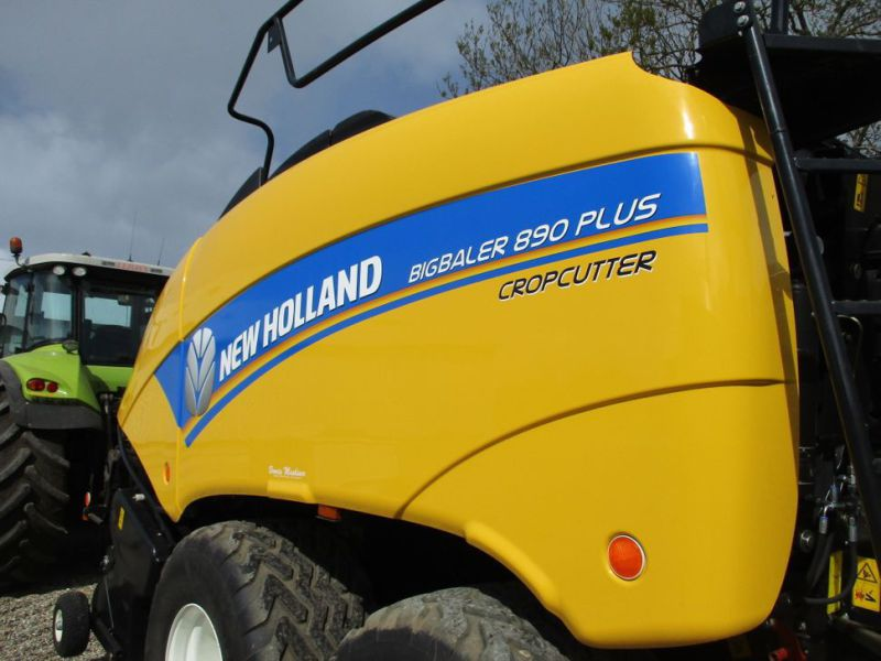 New Holland BB 890 Plus Bigballe Presser med Parklandvogn / Baler with trailer - 20