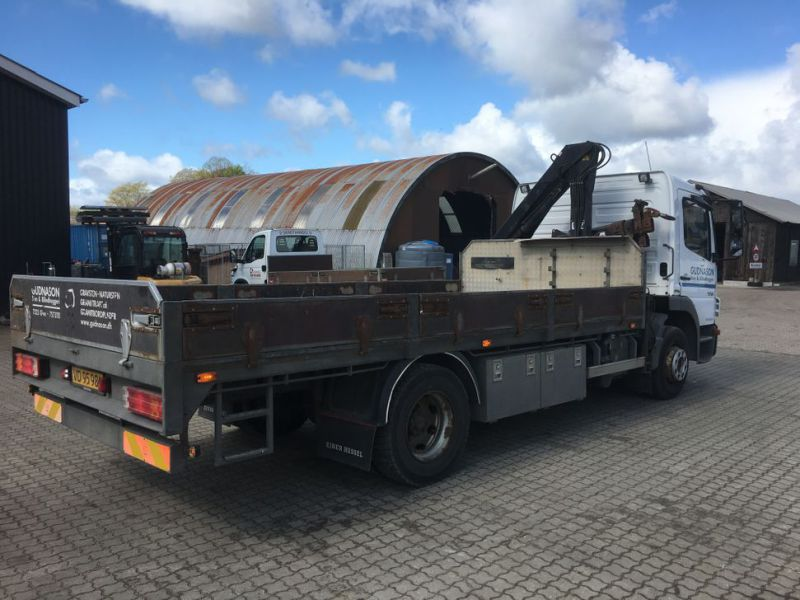 Mercedes Benz Atego 1218 med kran / Lorry with crane - 4