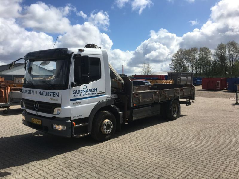 Mercedes Benz Atego 1218 med kran / Lorry with crane - 37