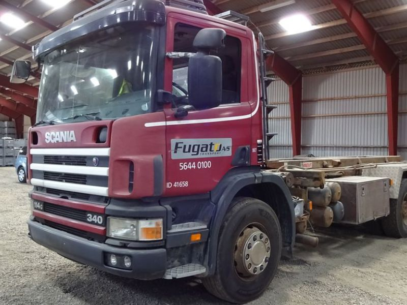 Scania 6X2-Z lastvogn med wirehejs / truck with wire hoist - 0