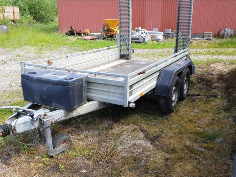 Humbauer 2 aksel maskin trailer / 2 axel machine trailer - 2