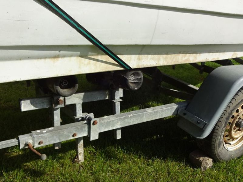 Bådtrailer med båd og motor / Boat trailer with boat and motor. - 16