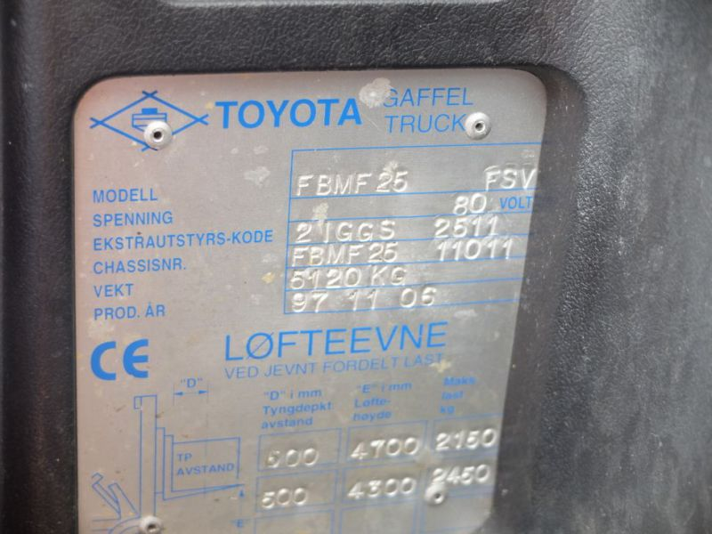 Toyota gaffeltruck med lader / Toyota forklift with charger - 6