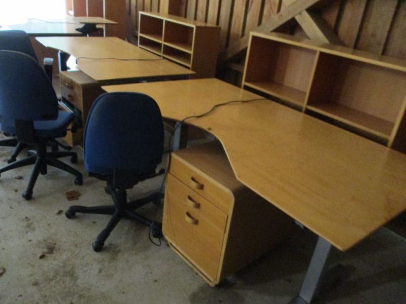 Kontormøbler, borde, stole, reoler / Office furniture, tables, chairs, shelves. - 3