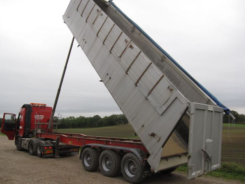 Tip trailer 3 akslet 48m3 / Semi trailer 3 axle tipper - 0