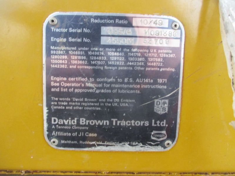 David brown 995 traktor med kost / tractor with sweeper - 26
