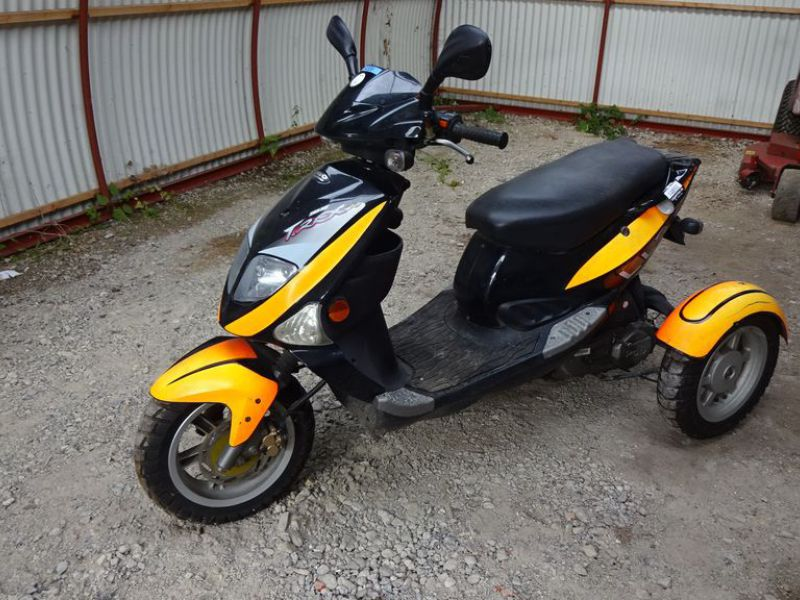 PGO 3-hjulet knallert 45 km / 3-wheel moped 45 km. - 0