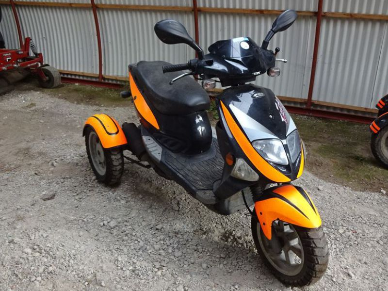 PGO 3-hjulet knallert 45 km / 3-wheel moped 45 km. - 13