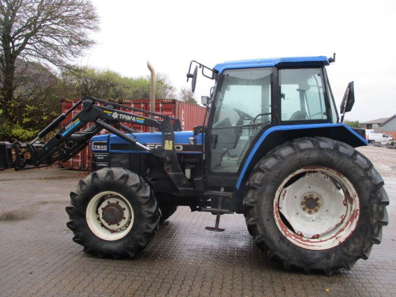 New Holland 7840 SLE turbo Powerstar traktor med frontlæsser / tractor with front loader - 0
