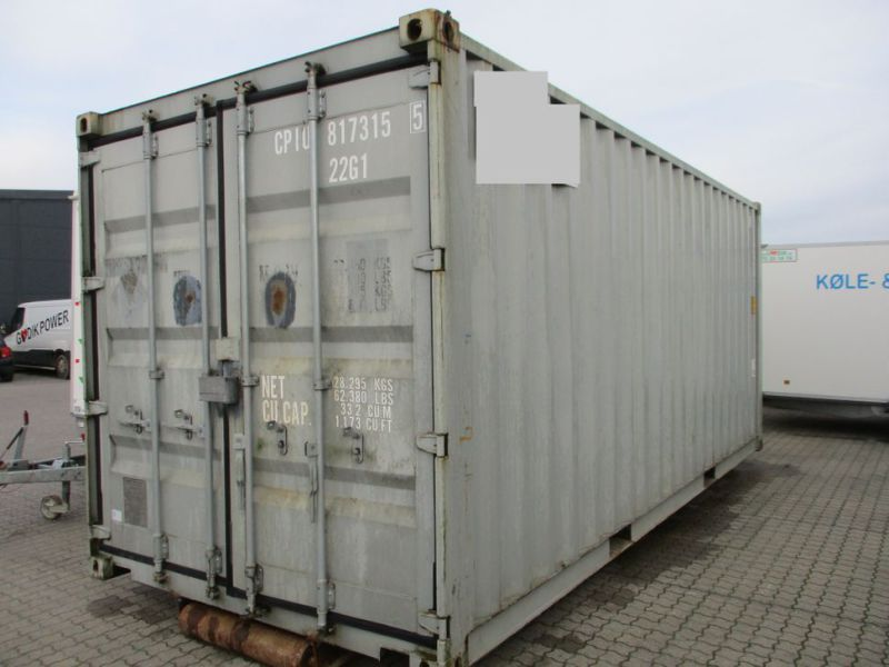 Fyrværkeri Container 20 fod Rulle/Wirehejs. / container with wire hoist - 0