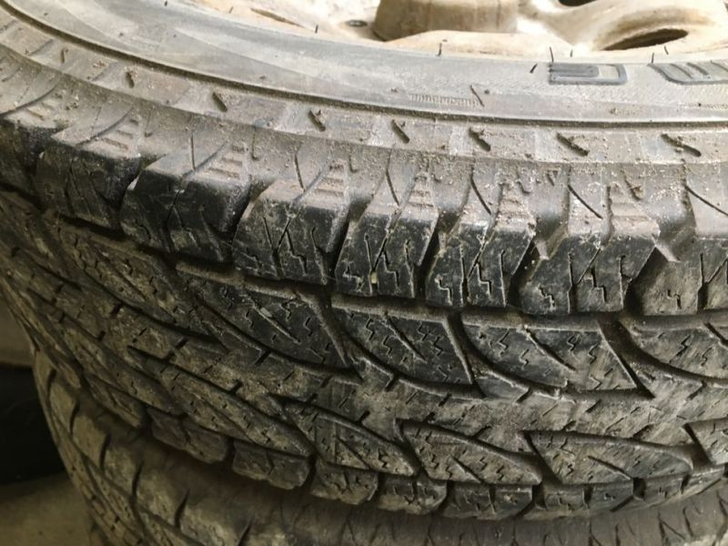 Dæk med fælge til toyota / Tires on rims for toyota - 1