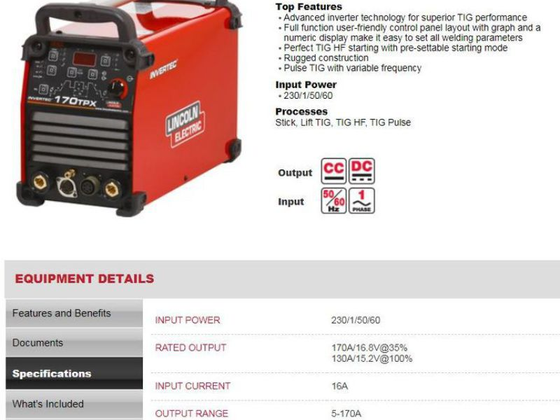Lincoln Invertec 170 TPX TIG m/puls - 3