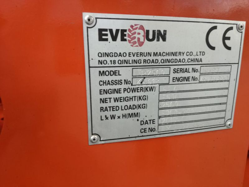 EVERUN ER2500 wheel loader with telescopic arm / Hjullæsser - 12
