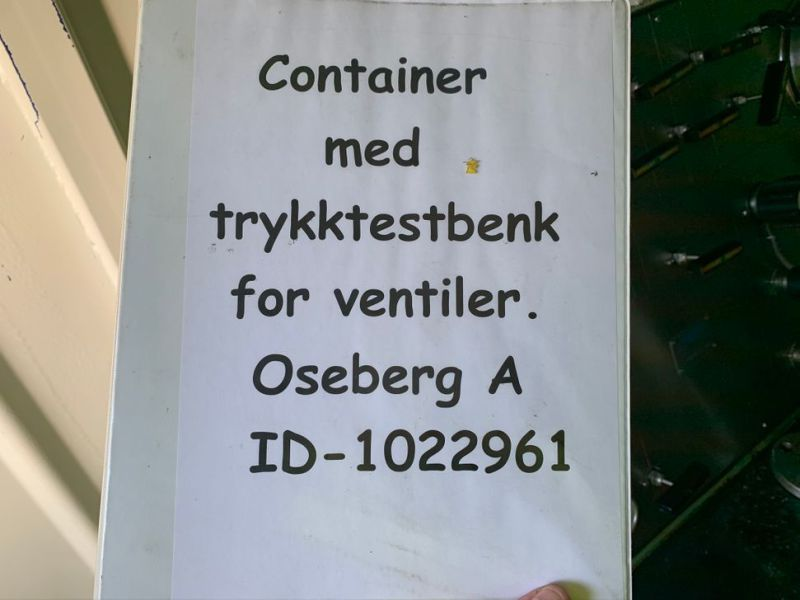 Container med trykktestbenk Proserv / Container with test bench  - 4