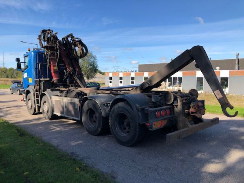 Scania R480 med kran og kroghejs / Hook lift  truck with crane - 2