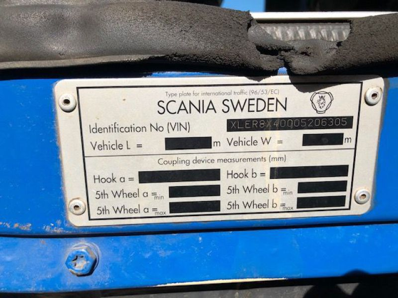 Scania R480 med kran og kroghejs / Hook lift  truck with crane - 29