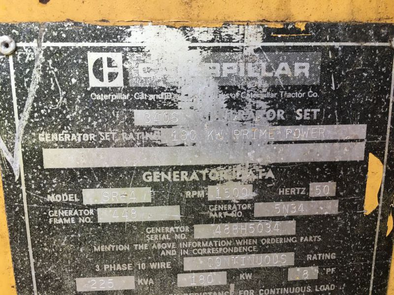Caterpillar 3406 Prime power 225 KVA generator - 13