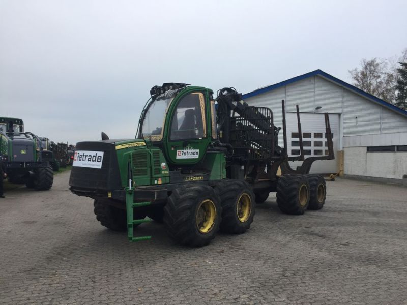 John Deere 1210E Udkørselsmaskine med kran og grap /  Forestry machine forwarder with crane and grap - 3