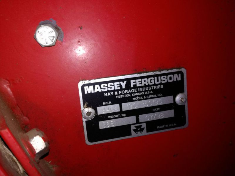 Massy Ferguson 190 Baler med  Spragelsesvogn / Big baler with collectortrailer - 13