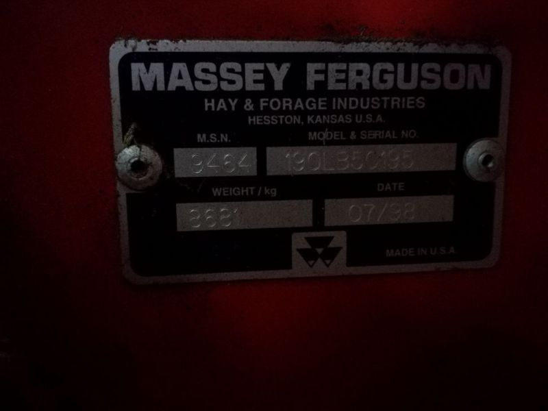 Massy Ferguson 190 Baler med  Spragelsesvogn / Big baler with collectortrailer - 29