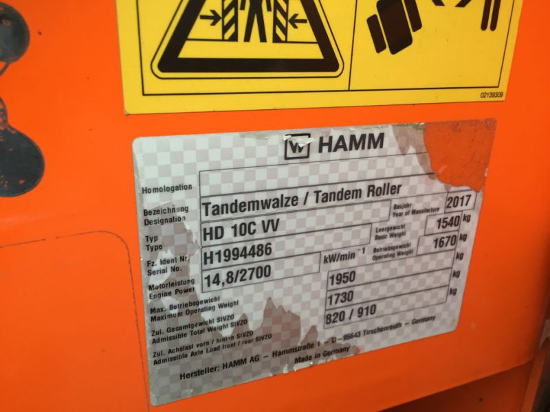 Hamm HD 10C VV Tromle / Articulated Roller - 16