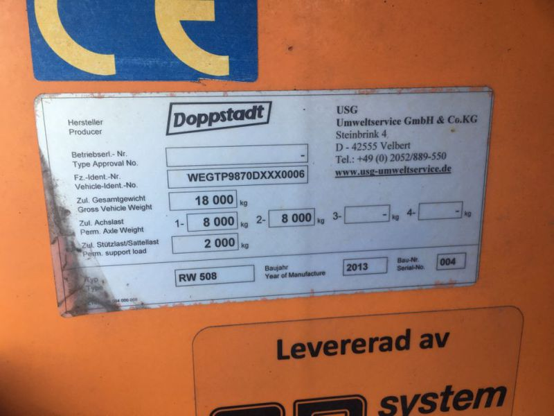 Doppstadt RW508 Bio materiale vasker / Bio waste washer screener  - 18