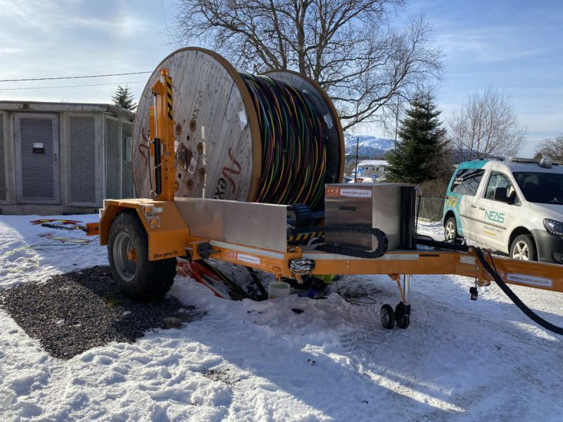 2020-MOD JKS 7500 / HEAVY-DUTY CABLE TRAILER / NEW / - 3