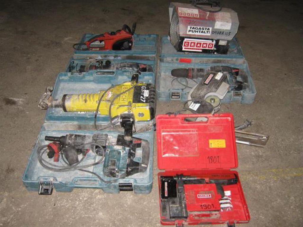 Set of tools Makita, Bosch, Hilti, Dolmar, Tallmac for sale
